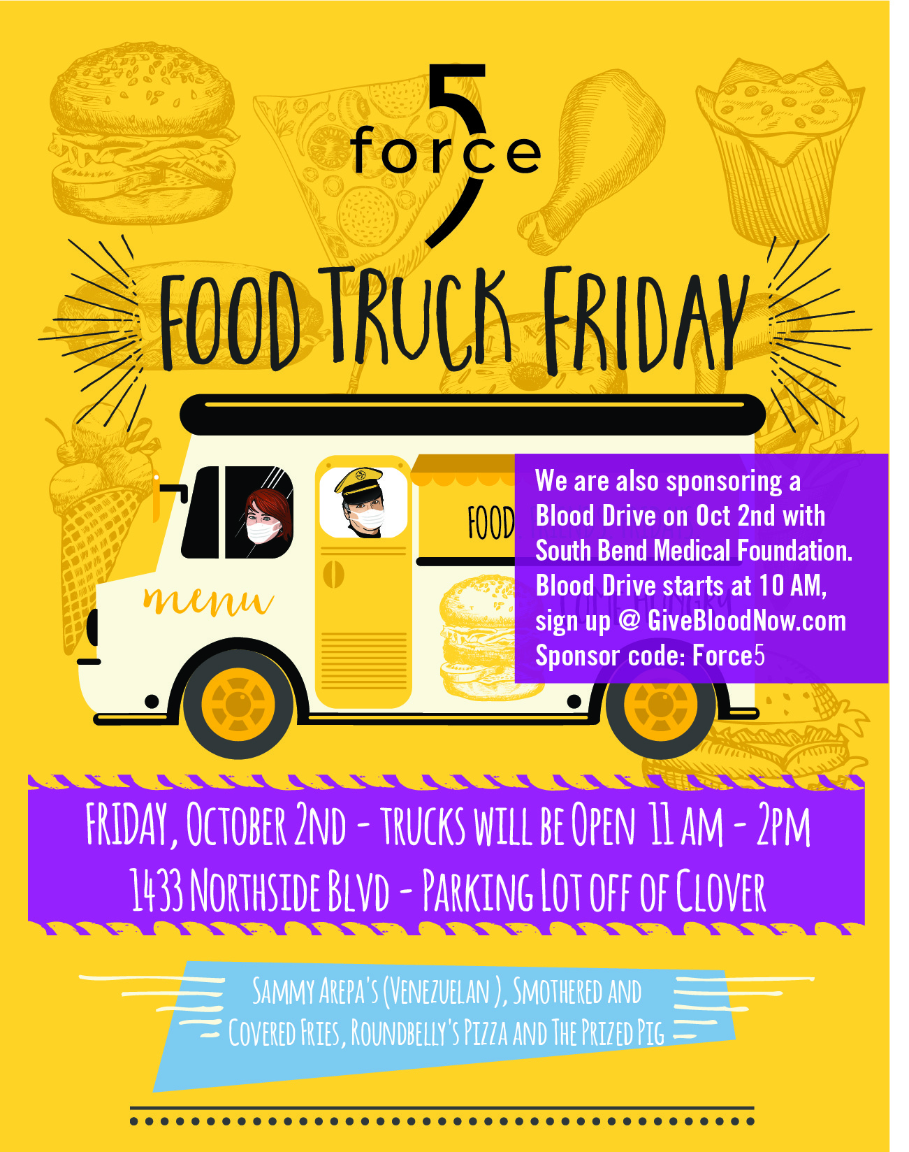 """Featured image for """"YOU'RE INVITED!! Come check out our 4th Annual Force 5 Food Truck Friday!"""""""