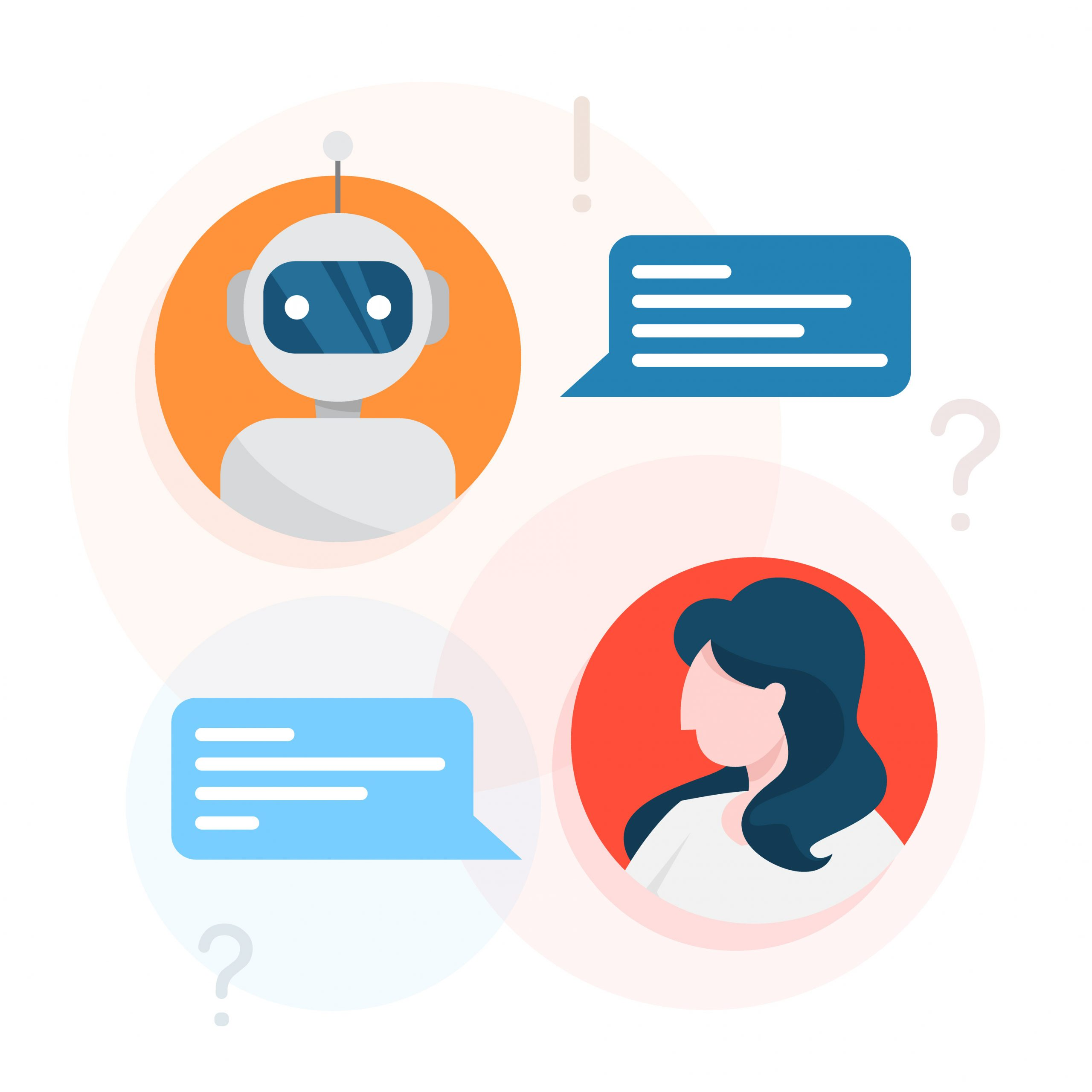 """Featured image for """"Achieving Customer Service with Chatbots"""""""