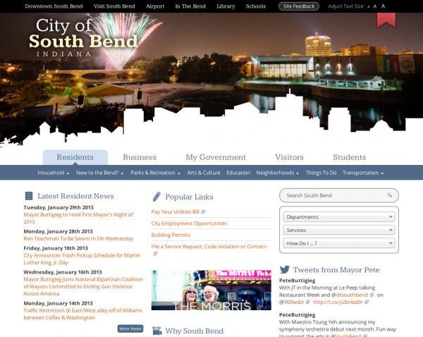 City of SB Website Home