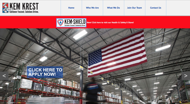"""Featured image for """"Kem Krest Website"""""""