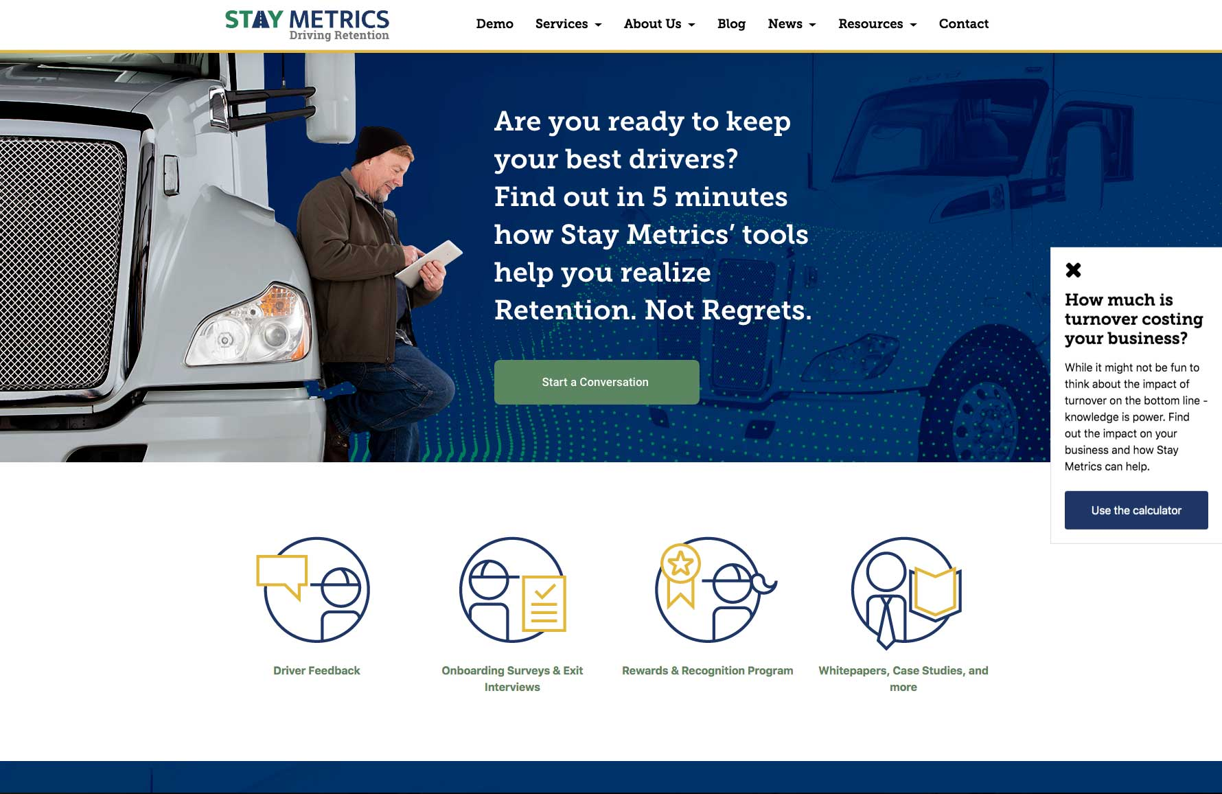 """Featured image for """"StayMetrics Website"""""""